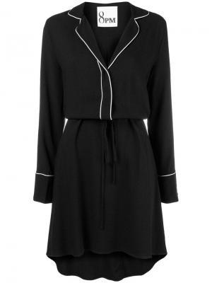 Pyjama-style dress 8pm. Цвет: черный