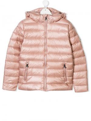 Пуховая куртка с капюшоном Pyrenex Kids. Цвет: розовый