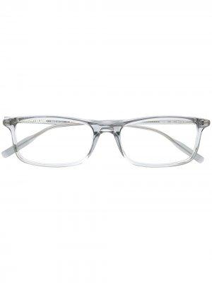 Очки в прозрачной квадратной оправе Montblanc. Цвет: серый