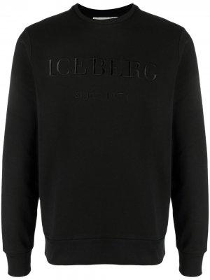 Толстовка с вышитым логотипом Iceberg. Цвет: черный