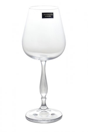 Набор бокалов для вина, 6 шт Crystalite Bohemia. Цвет: прозрачный