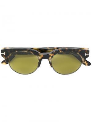 Солнцезащитные очки Henri Tom Ford Eyewear. Цвет: коричневый