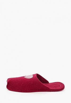 Тапочки Котофей. Цвет: бордовый
