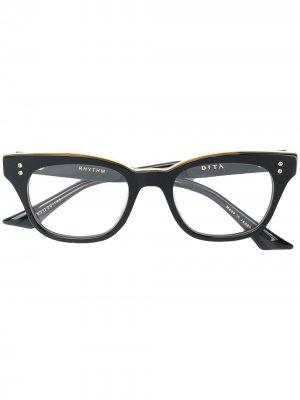 Очки в квадратной оправе Dita Eyewear. Цвет: черный