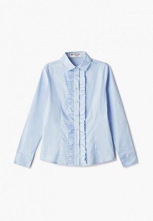 Блуза Button Blue. Цвет: голубой