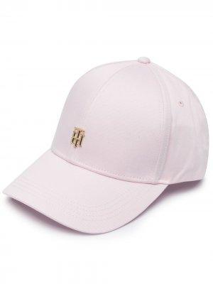Бейсболка с логотипом Tommy Hilfiger. Цвет: розовый