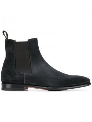 Классические ботинки челси Santoni. Цвет: черный