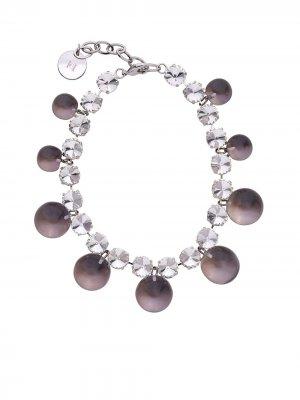 Массивное ожерелье с кристаллами Carolina Herrera. Цвет: белый
