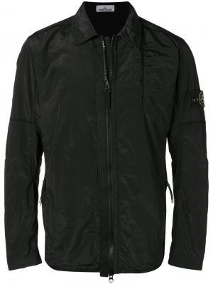 Zip-up lightweight jacket Stone Island. Цвет: черный