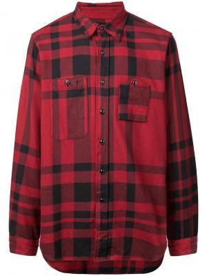 Классическая рубашка в клетку Engineered Garments. Цвет: красный
