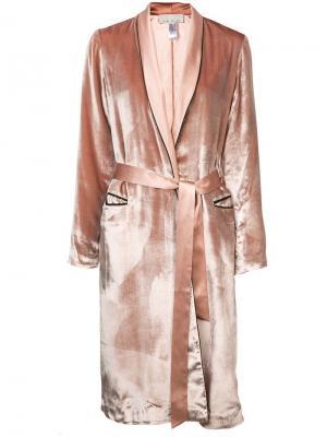 Бархатный халат Fleur Du Mal. Цвет: розовый