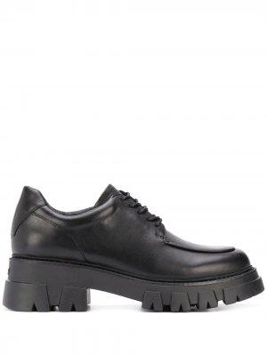 Туфли London на шнуровке Ash. Цвет: черный