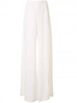 Расклешенные брюки с завышенной талией Costarellos. Цвет: белый