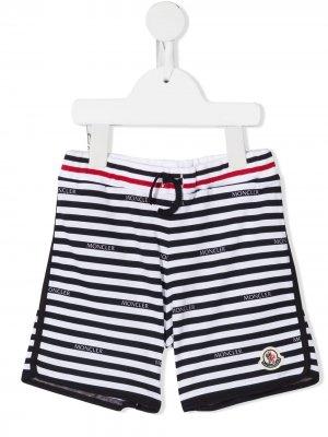 Спортивные шорты в полоску Moncler Enfant. Цвет: белый