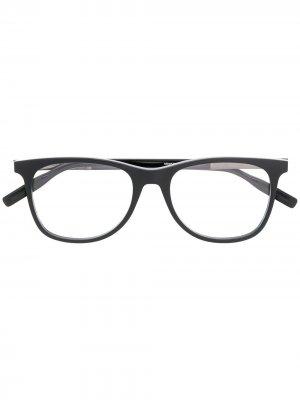 Очки для зрения в квадратной оправе Montblanc. Цвет: черный