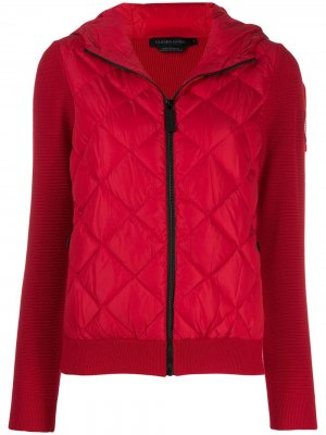 Куртка с дутыми вставками спереди Canada Goose. Цвет: красный