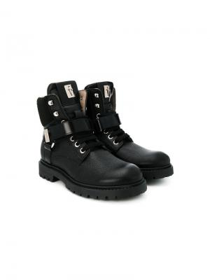TEEN lace-up boots Cesare Paciotti Kids. Цвет: черный