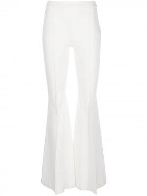 Расклешенные брюки с защипами Rosetta Getty. Цвет: белый