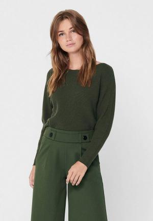 Джемпер Jacqueline de Yong. Цвет: зеленый