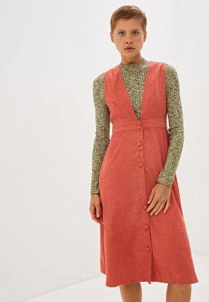 Платье Compania Fantastica. Цвет: коралловый