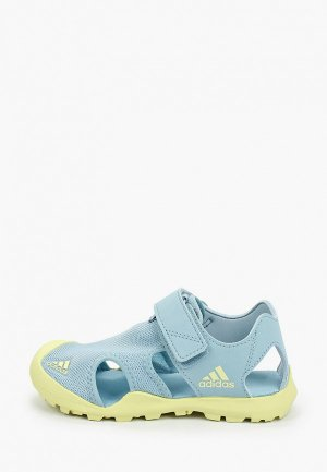 Сандалии adidas. Цвет: голубой