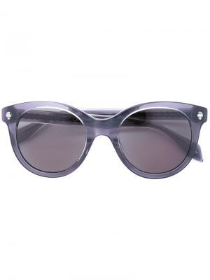 Солнцезащитные очки в круглой оправе Alexander McQueen Eyewear. Цвет: серый