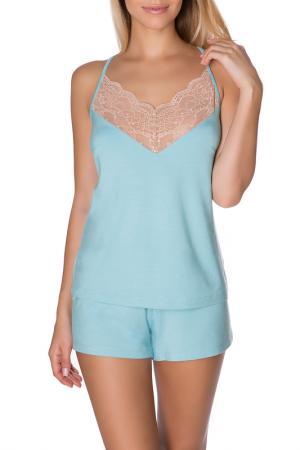 Шорты пижамные ROSE&PETAL HOMEWEAR. Цвет: голубой