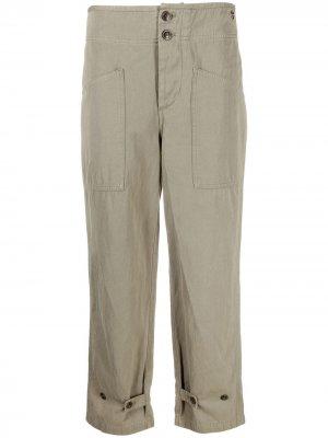 Укороченные брюки прямого кроя TWINSET. Цвет: зеленый