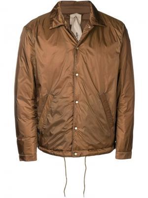 Куртка средней длины Ten C. Цвет: зеленый