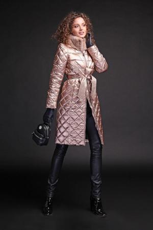 Пальто Naumi. Цвет: gold rose