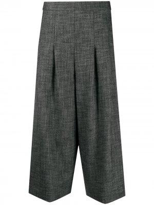 Укороченные брюки с завышенной талией Semicouture. Цвет: серый