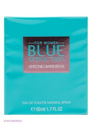Туалетная вода Antonio Banderas Blue Seduction Woman, 50 мл. Цвет: прозрачный
