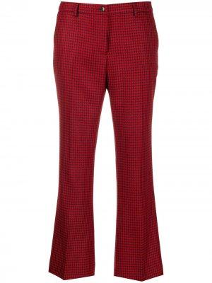 Укороченные брюки в ломаную клетку Pt01. Цвет: красный