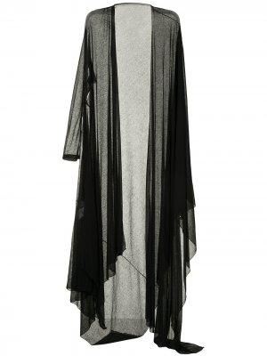 Длинный кардиган асимметричного кроя Yohji Yamamoto. Цвет: черный