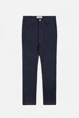 Широкие джинсы AMI Paris. Цвет: синий