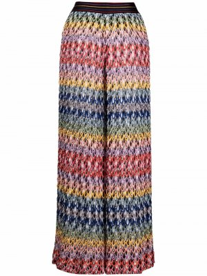 Расклешенные брюки в полоску Missoni. Цвет: красный