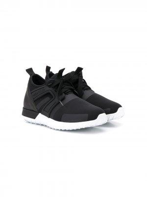Спортивные кроссовки-носки Moncler Enfant. Цвет: черный