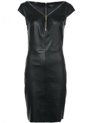 Платье с открытыми плечами и молнией Jitrois. Цвет: чёрный