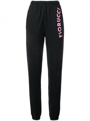 Спортивные брюки с логотипом Fiorucci. Цвет: черный