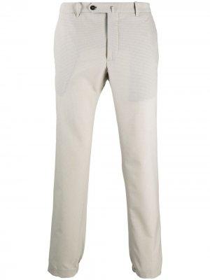 Прямые брюки чинос средней посадки Incotex. Цвет: серый