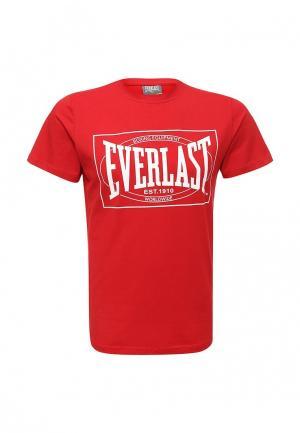 Футболка Everlast. Цвет: красный