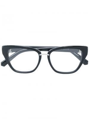 Декорированные солнцезащитные очки в оправе кошачий глаз Swarovski Eyewear. Цвет: черный