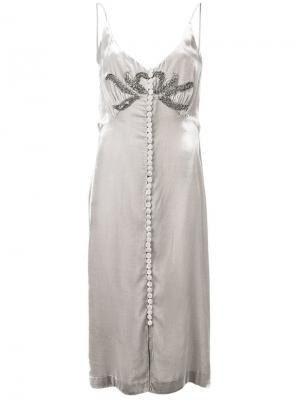 Коктейльное платье без бретелей Parlor. Цвет: серый