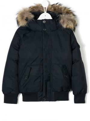 Hooded padded jacket Pyrenex Kids. Цвет: синий