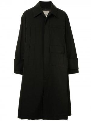 Тренч с карманами Wooyoungmi. Цвет: черный