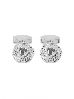 Cable Knot cufflinks Tateossian. Цвет: металлик