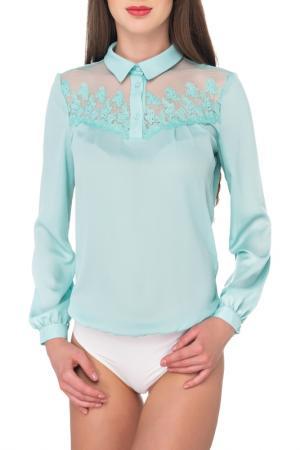 Блуза-боди AREFEVA. Цвет: бирюзовый