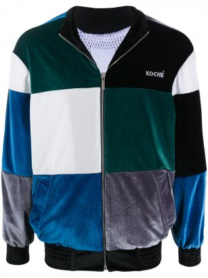 Спортивная куртка с логотипом Koché. Цвет: синий