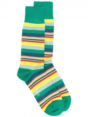 Носки в полоску PAUL SMITH. Цвет: зеленый