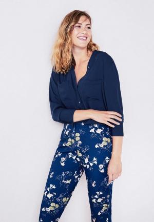 Блуза Violeta by Mango. Цвет: синий